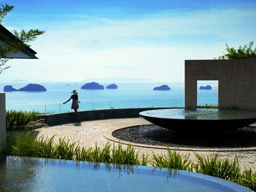 Conrad Koh Samui overlooks the Gulf of Thailand