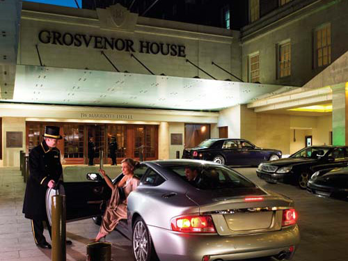 London's iconic Grosvenor House Hotel on Park Lane