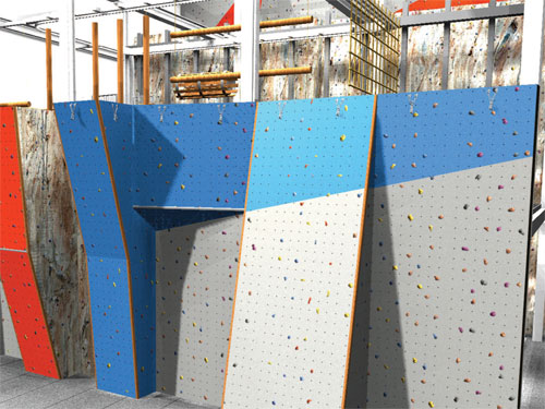 The new climbing facilities for Plymouth's Life Centre