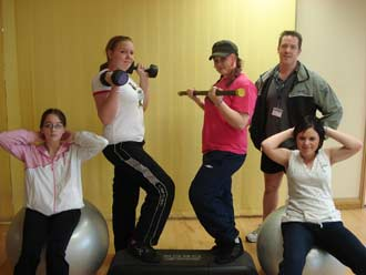 Young people aim for awards through fitness