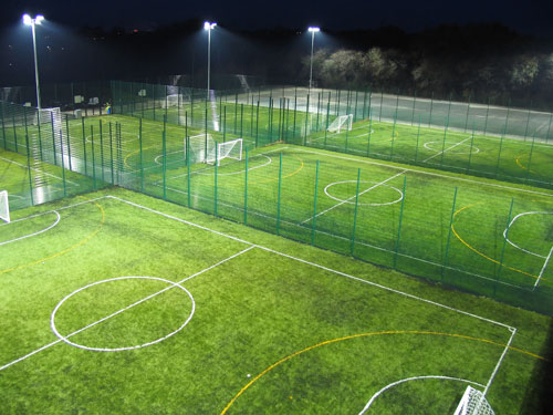 The new Deeside Leisure Centre pitches