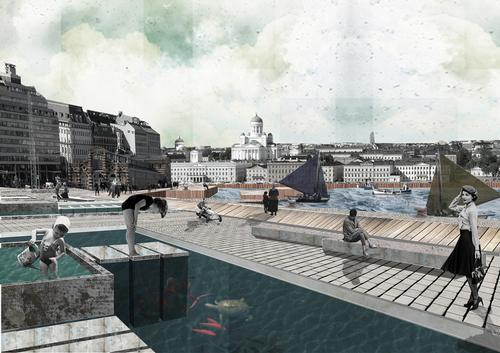 A design for the 'Landscaped Dock' proposal from Mathilde Lull and François Perrier