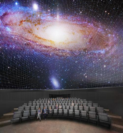 To be renamed the Bell Museum and Planetarium, a 120-seat domed planetarium and theatre will be one of the main new features