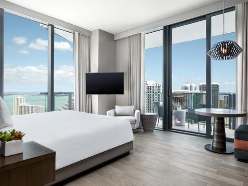 After three years of planning and construction, the hotel – named EAST, Miami – will open in the Florida on 31 May. / EAST, Miami