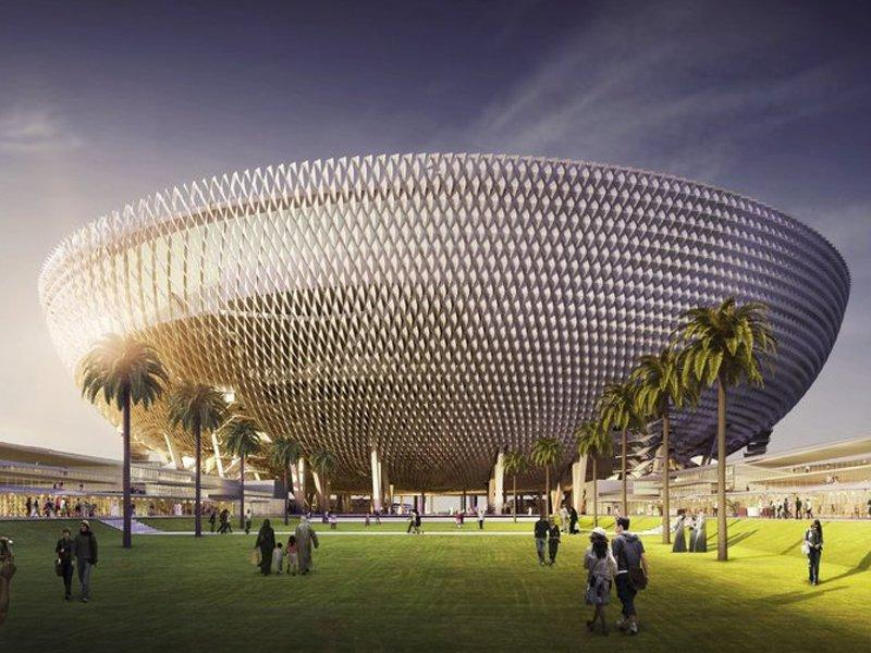 Dubai's ruler Sheikh Mohammed bin Rashid Al Maktoum has approved the world's first fully air-conditioned ground, designed by Perkins+Will / Perkins+Will