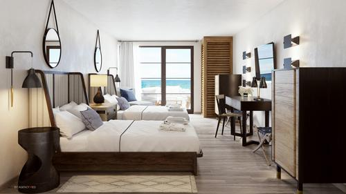 Phase one enhancements include a new beach club, 38 new luxury guestrooms and upgrades to the remaining 71 rooms / Agency Red/ Gurney's Resort & Spa