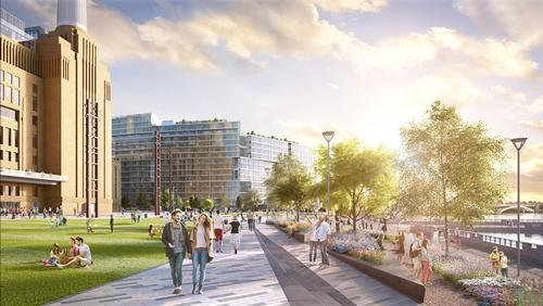 LDA Design has released a new rendering of the Battersea Power Station park / LDA Design