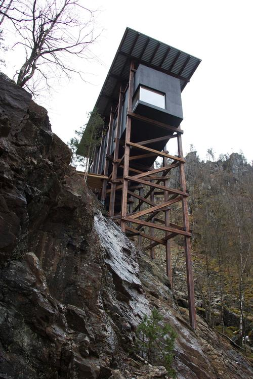 The new installation at the old zinc mines in Sauda has been designed by architect Peter Zumthor / Per Ritzler