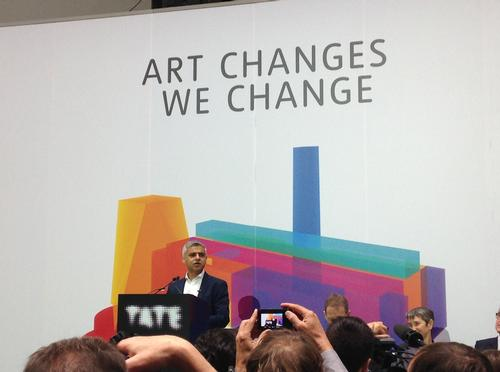 Khan was speaking at the press opening of the new Tate Modern in London / Kim Megson