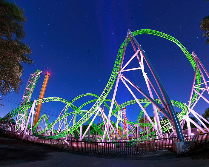 The Monster ride at Adventureland in Iowa features nearly 200 KCL LED light fixtures