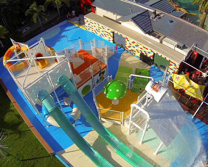 Tennis court becomes play installation at Gold Coast