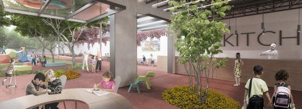 The Greene School in Florida will be built around two central spaces: the piazza and the organic garden