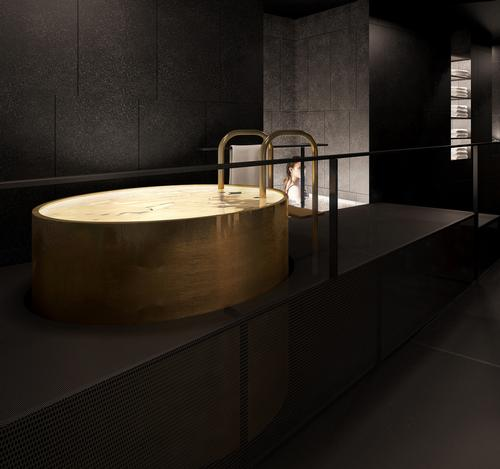 The spa includes a cold pool, whirlpool, sauna, steam room and wet area