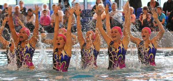 Synchronised swimming offers spectator opportunities