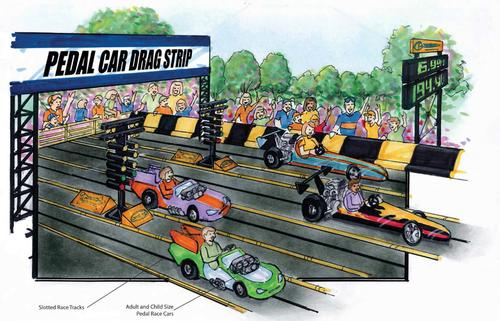 A Indianapolis Motor Speedway pedal car racetrack will feature