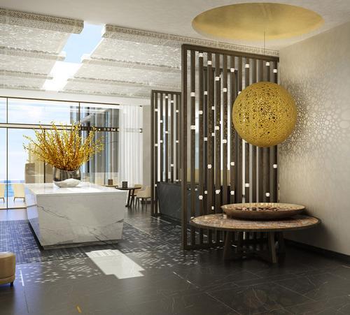 The hotel features interior design from GA Design / Four Seasons