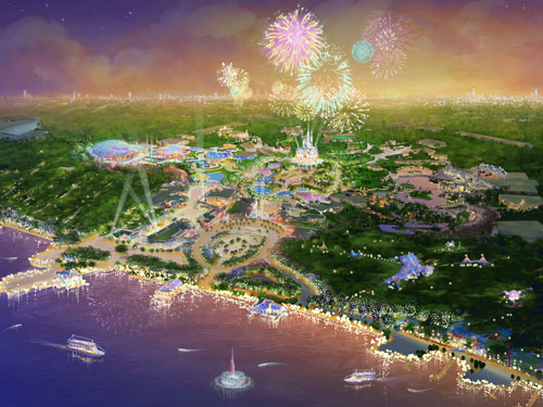An artist's impression of the new Shanghai Disney Resort in China