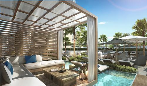 Cabanas and outdoor sun decks will offer a view of the ocean / Rockwell Group