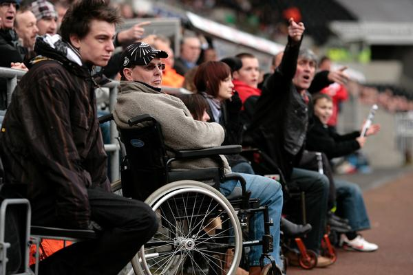 Research in 2014 showed that Swansea City was one of only three Premier League clubs to meet the requirements for disability spaces set out in the Accessible Stadia Guide