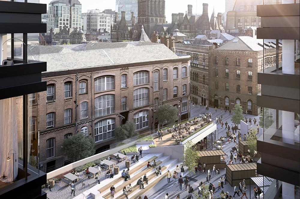 The scheme is proposed in the heart of Manchester's city centre / Make