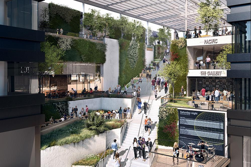 The St Michael's scheme will feature a multi-level 'covered garden' / Make