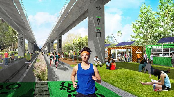 The Miami Underline will see the creation of a linear park, urban trail and living art gallery