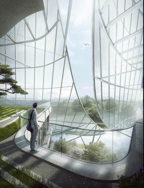 The centre is currently under construction in the coastal city Xiamen / MAD Architects