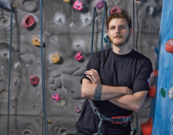 Jez Tapping, Everyone Active's regional climbing manger at Westway, London