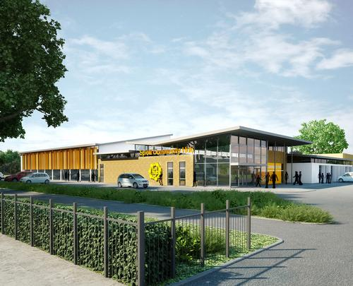 An artist's impression of the new community hub