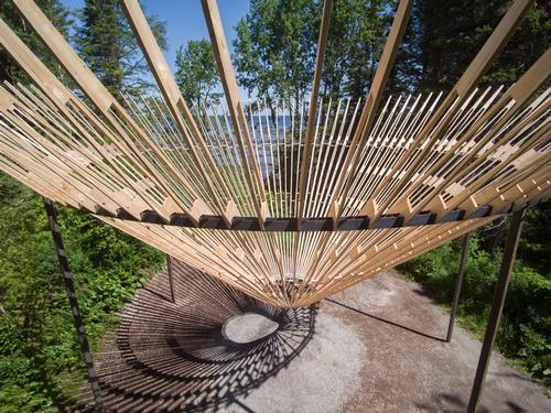 The installation by Craig Chapple is one of five award-winning pieces on display at the festival / International Garden Festival