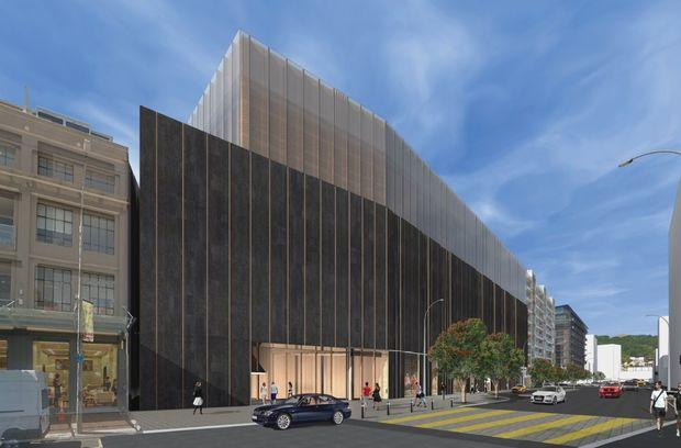 The first design option for the Movie Musuem / Studio Pacific Architecture, via RNZ