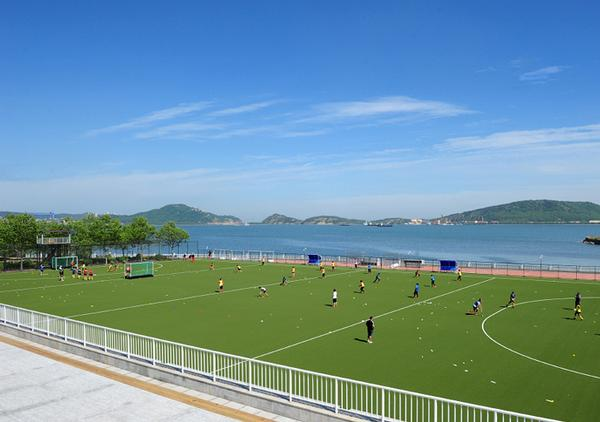 One of the new hockey pitches at Liaoning