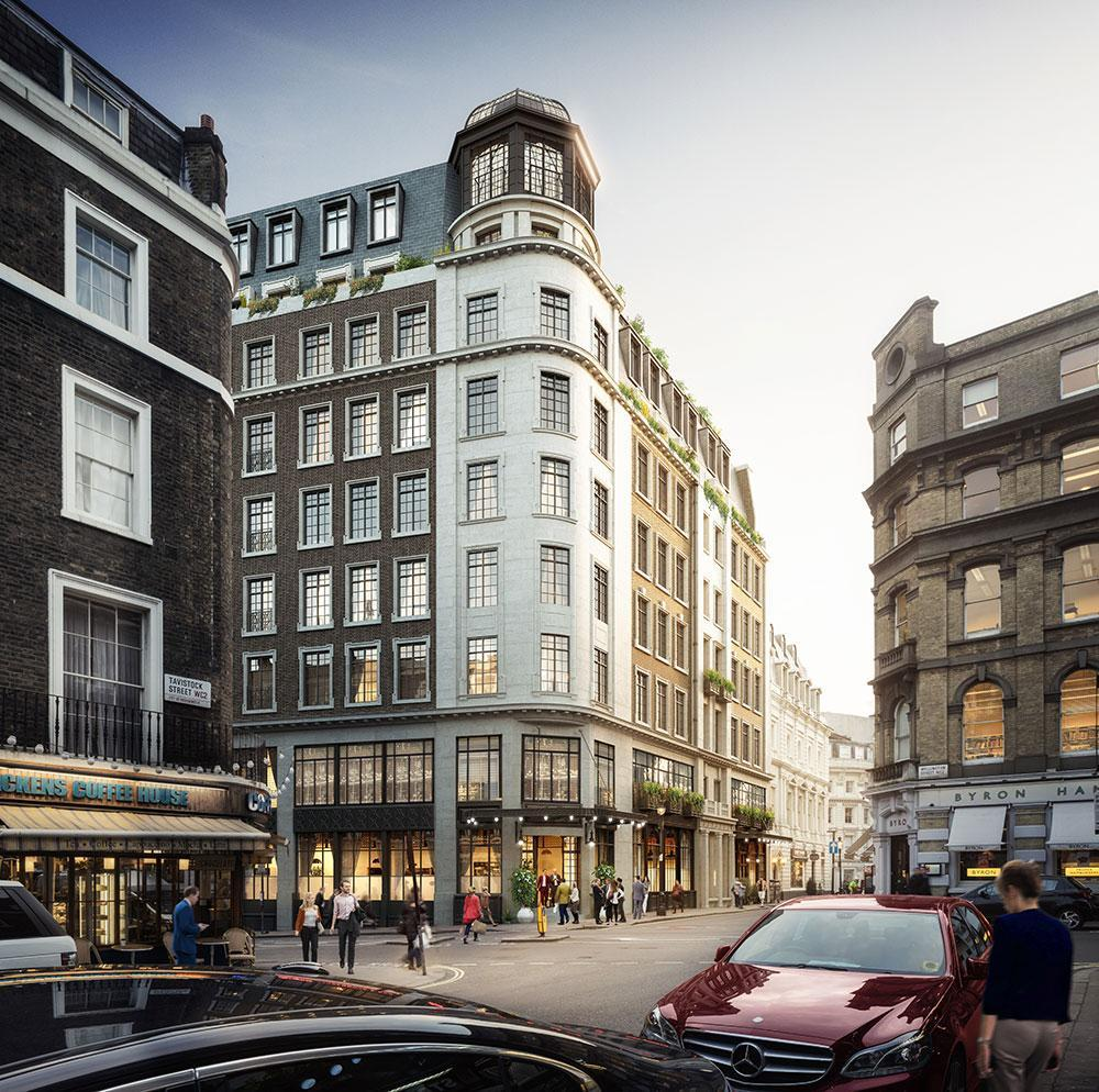 Substantial renovation, including the creation of new storeys, will take place to the interiors of three of the buildings, but the historic facades will be largely retained / CAPCO