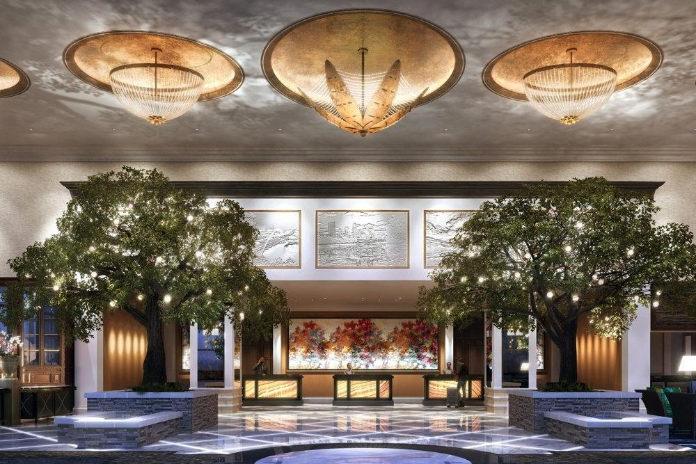Fairmont Texas will be designed with trees, plants and landscape features inside / Fairmont