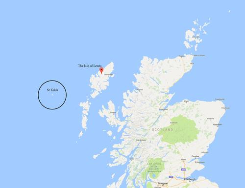 St Kilda contains the westernmost islands of the Outer Hebrides of Scotland / Google Maps