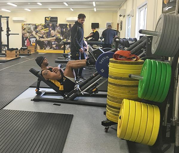 The new gym includes an Olympic-standard free weights area