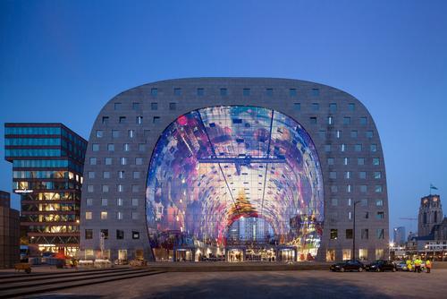 Markthal Rotterdam by MVRDV won the The Best Shopping Centre / MVRDV/ Design Museum