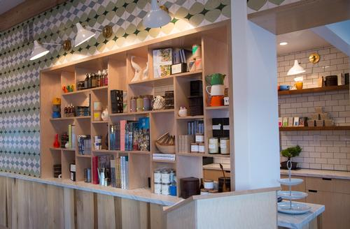 A small retail shop with stock curated by Moby also features / Little Pine
