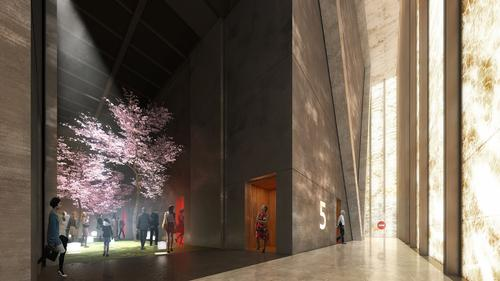 The space is highly adaptable based on the situation / Render by Luxigon