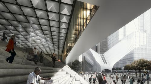 The venue is final piece in the puzzle for Libeskind's 2003 masterplan for the World Trade Center site / Render by Luxigon