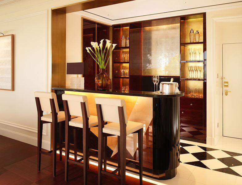 A cocktail bar features in the new Savoy Suite / The Savoy
