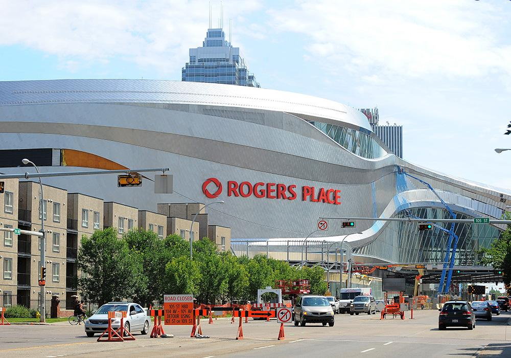 Rogers Place is the new home of Canadian NHL francuise the Edmonton Oilers / Andy Devlin & Jeff Nash