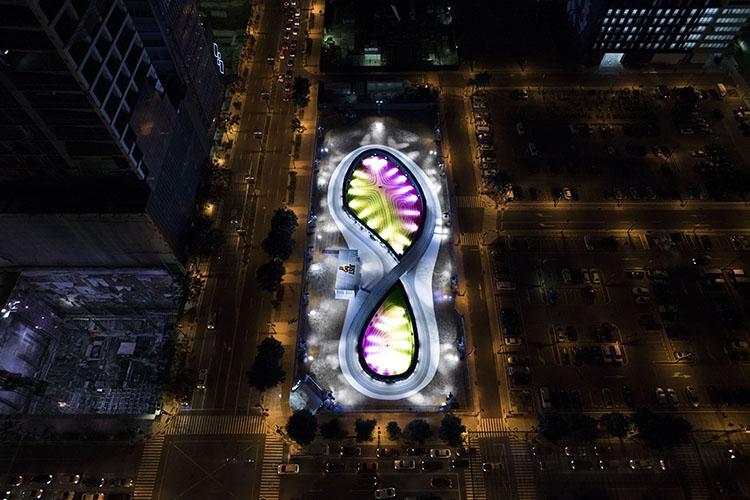 The track is shaped like a giant Nike shoe / BBH Singapore