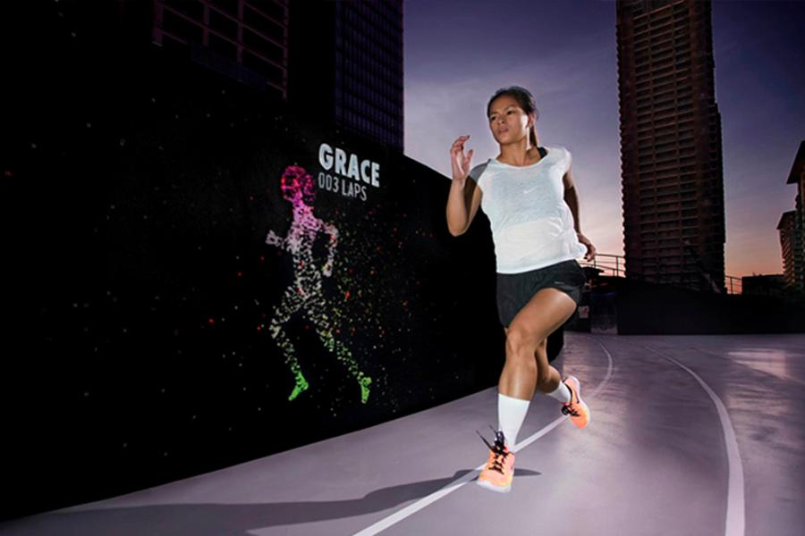 Runners were able to race their own avatars / BBH Singapore