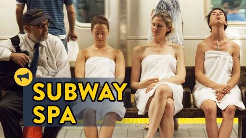 New York subway station taken over by pop-up comedy spa prank