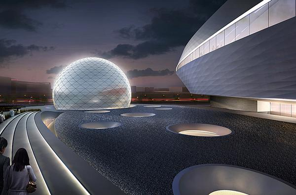 The Planetarium is based in the new Lingang District, around 90 minutes from downtown Shanghai
