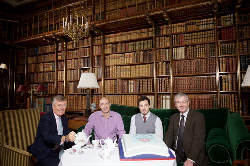(From left) Paul Roden, chair of Peak District and Derbyshire Tourist Board; Jim Dixon, tourism consultant; Mark Di-Toro, VisitBritain head of media; and Devonshire Group CEO Richard Reynolds launch the campaign at Chatsworth House in Derbyshire