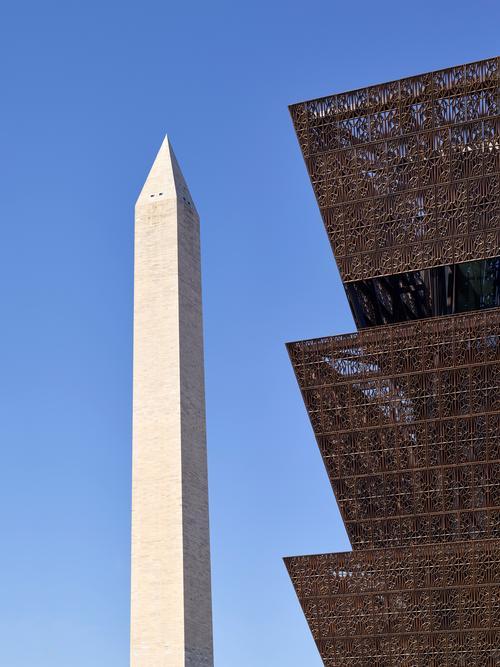 The angle of the pyramids echoes the angle of Washington Monument / Alan Karchmer/NMAAHC