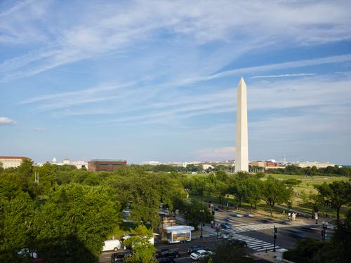 The museum occupies a prominent position next to Washington's most famous landmarks / Alan Karchmer/NMAAHC