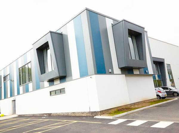 AFTER: The Bridgend centre now has an ultra-modern exterior